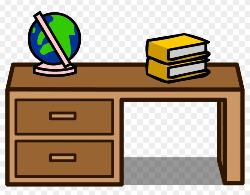 Student Desk With Drawers Clipart
