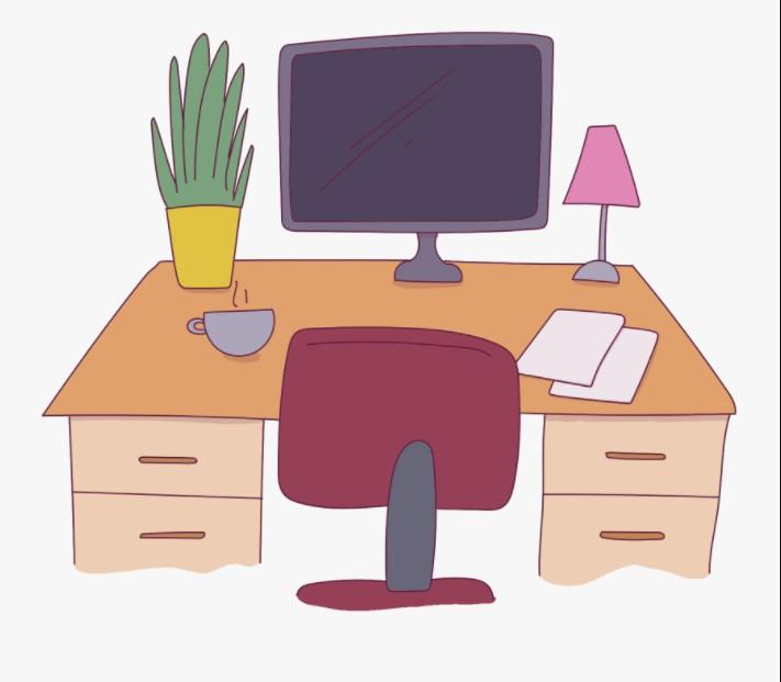 Work Desk Clipart