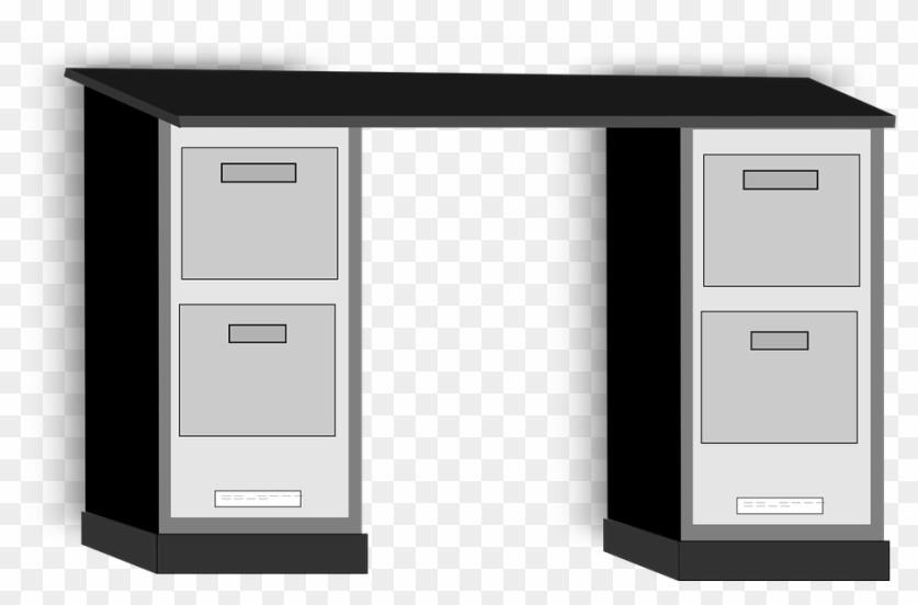 Black And White Desk Clipart
