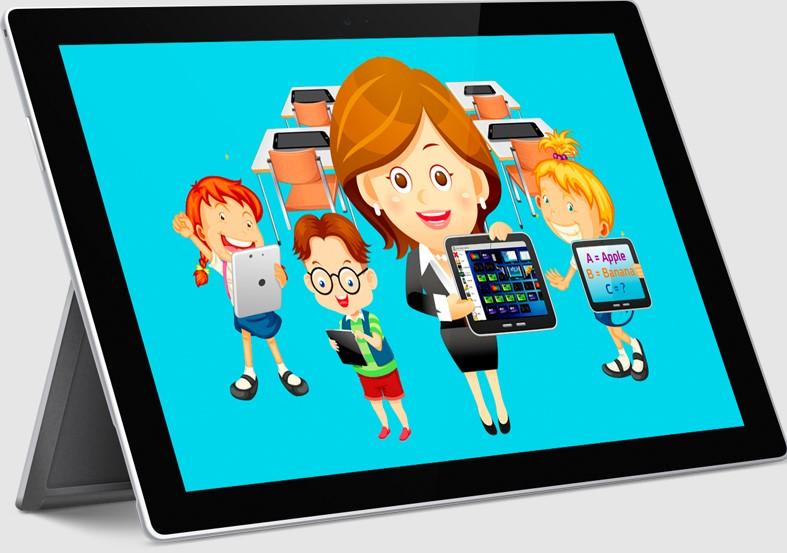 iPad Classroom Clipart