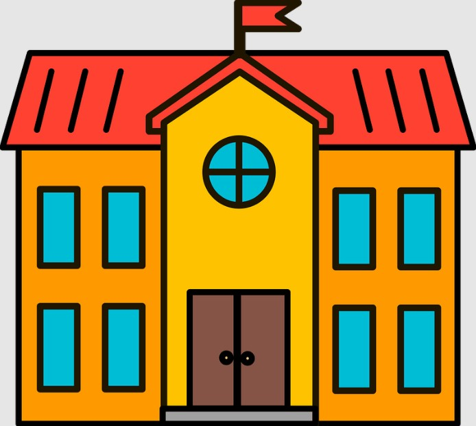 School Library Building Clipart
