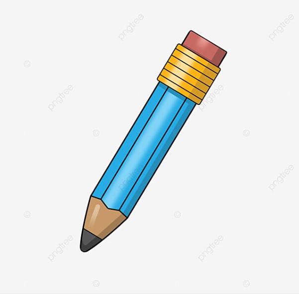 Blue Pencil Clipart