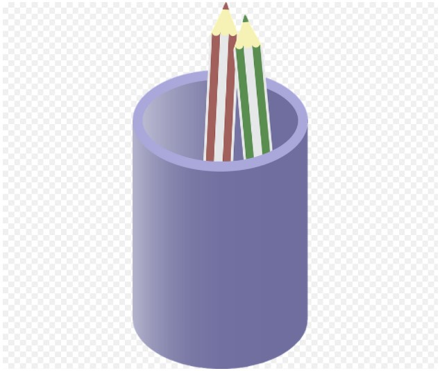 Pencils In A Cup Clipart