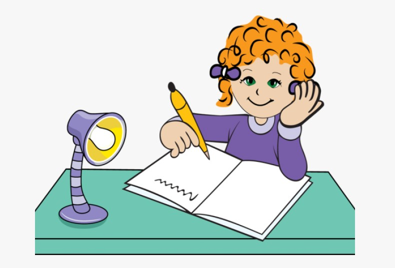 Girl Writing PNG Clipart