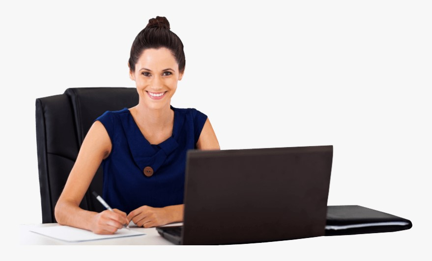 Woman at Work Writing