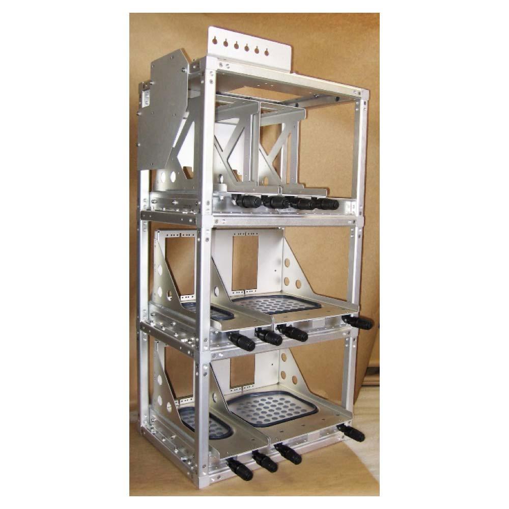 Complex cnc machined aluminum electronics rack