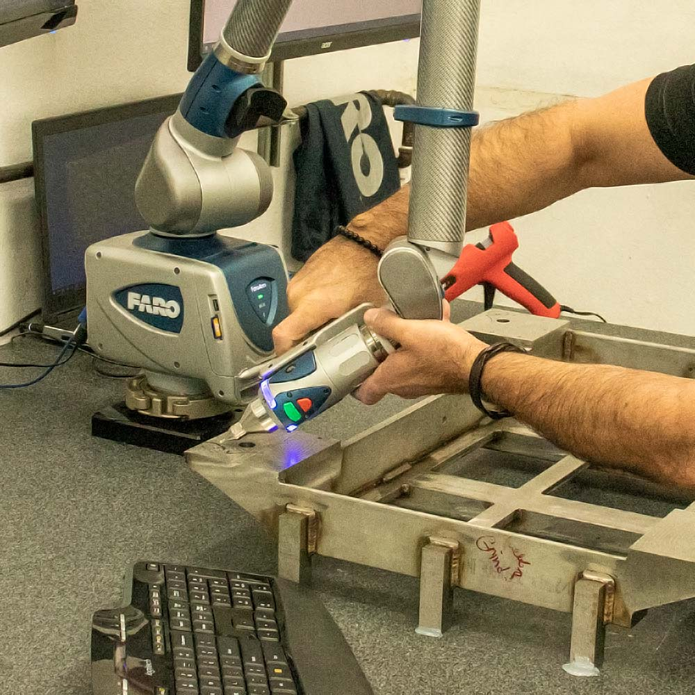 Quality control - 3d measuring with FARO arm