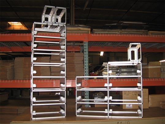 Custom aluminum galley racks and shelving - avionics industry