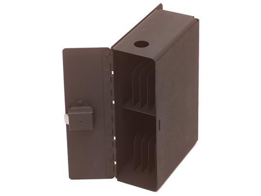 Custom fabricated sheet metal locker with locking door