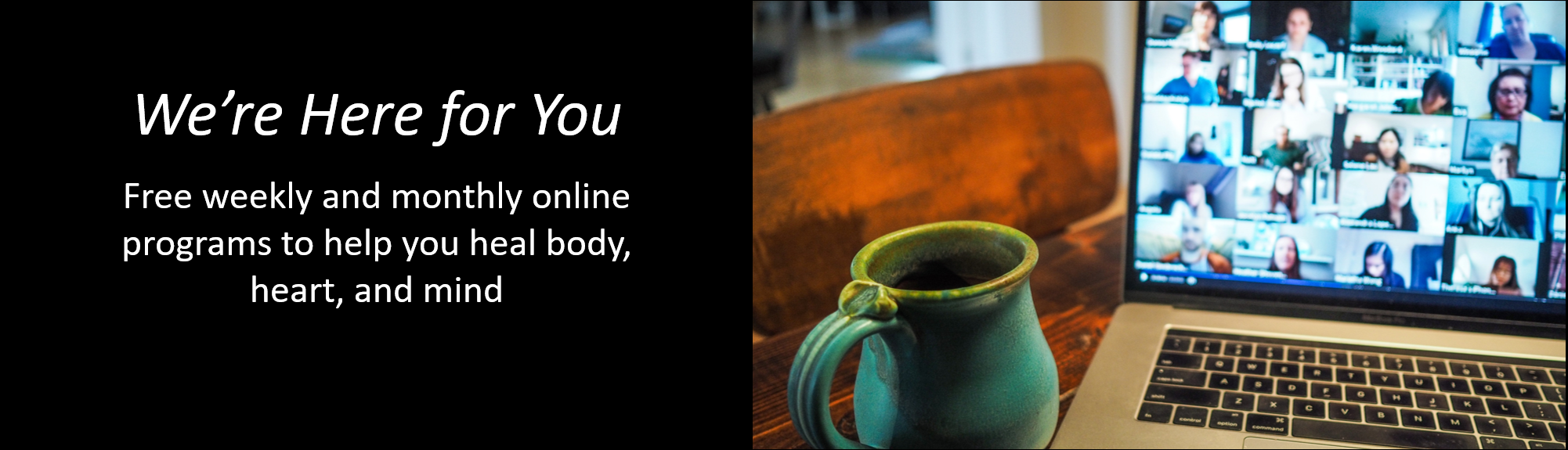 Banner – Here For You wide