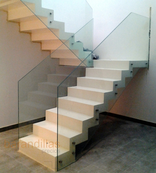 A-5 Impact glass railing with standoff
