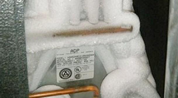 frozen condenser coil
