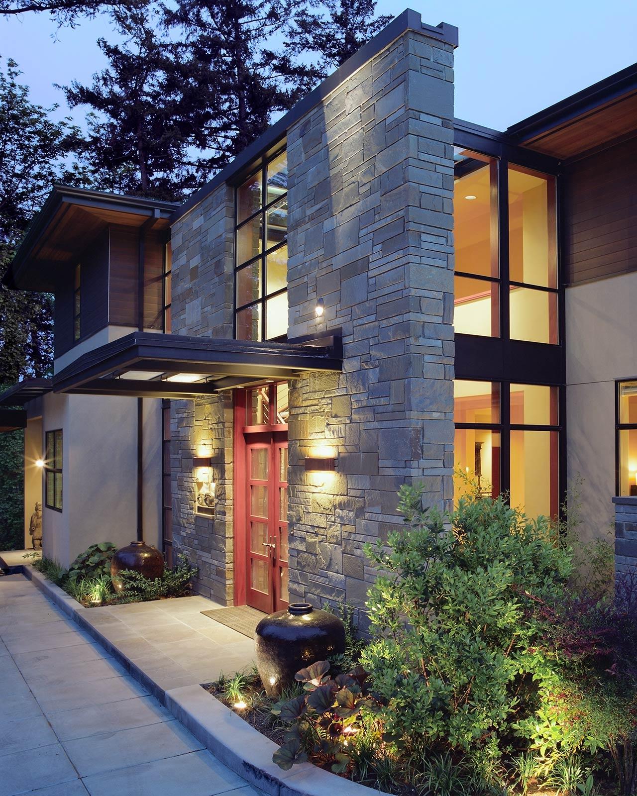 Bluestone Residence - Exterior Entry