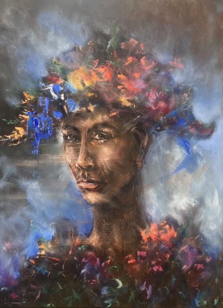 "Grand  Père, acrylic on canvas, 30x40"""