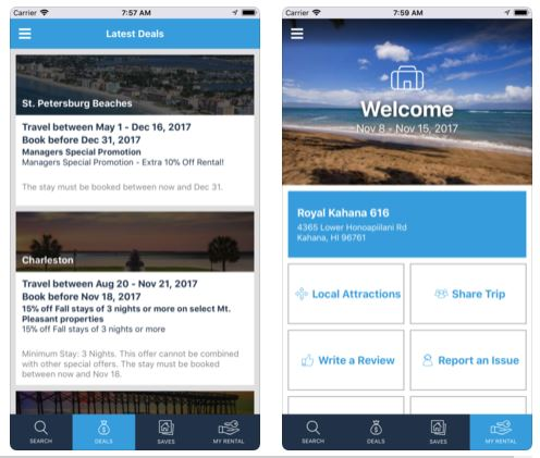 itrip vacations travel guest app