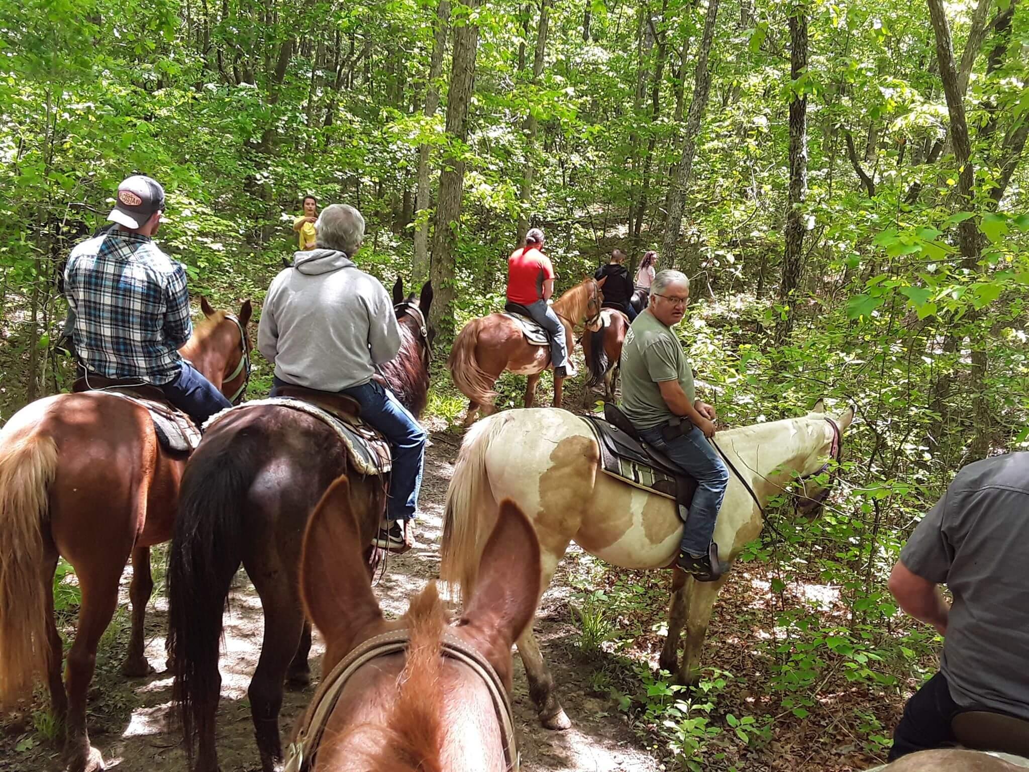 A little horseback riding in Nashville TN