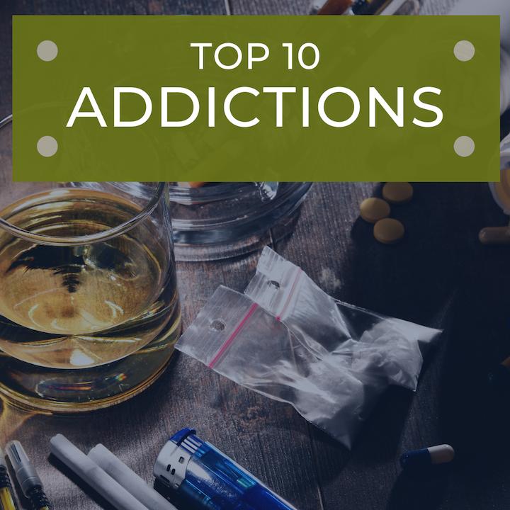 Top 10 addictions drugs alcohol tobacco paraphernalia