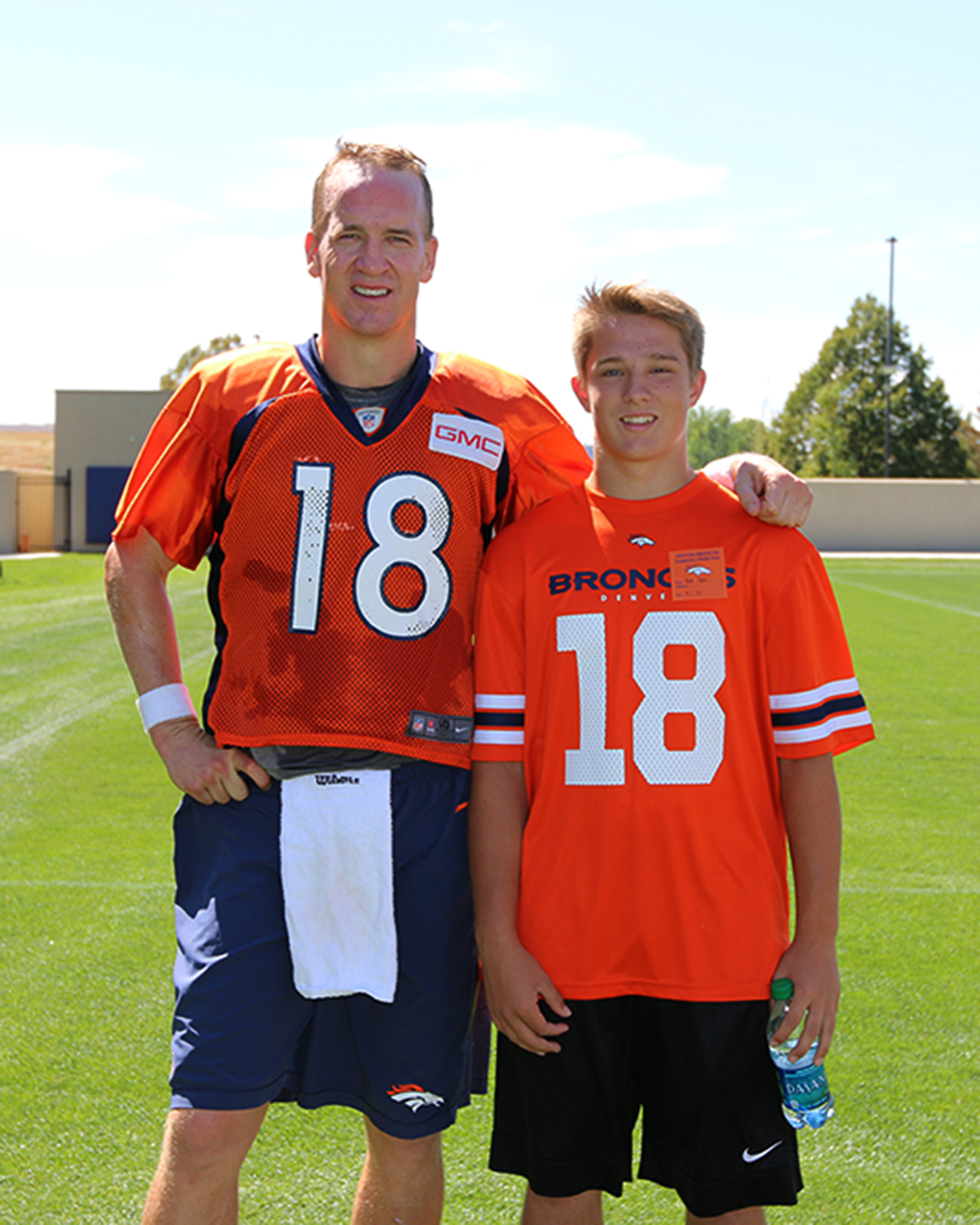 Peyton Manning and Nick Hoff #broncos