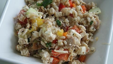 Greek Barley Veggie Salad