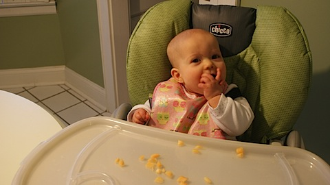 Feeding baby: 9 months old
