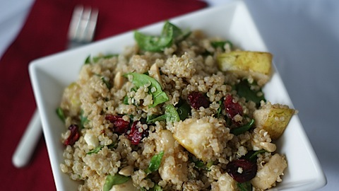Quinoa with Pear, Cranberries and Almonds