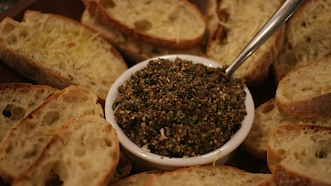 Pine Nut and Olive Tampenade