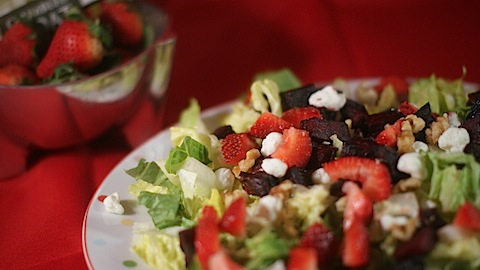 Roasted Beet and Strawberry Salad