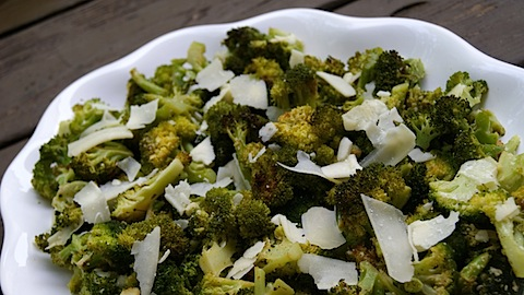 Lemon + Parmesan Roasted Broccoli