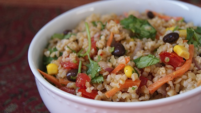 Mexican Bulgur with Cumin + Cilantro