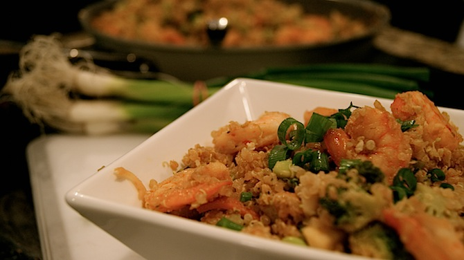 Healthy Fried Rice with Shrimp