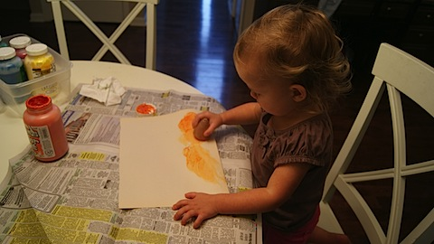 Healthy Toddler Meal Tuesday + Potato Painting