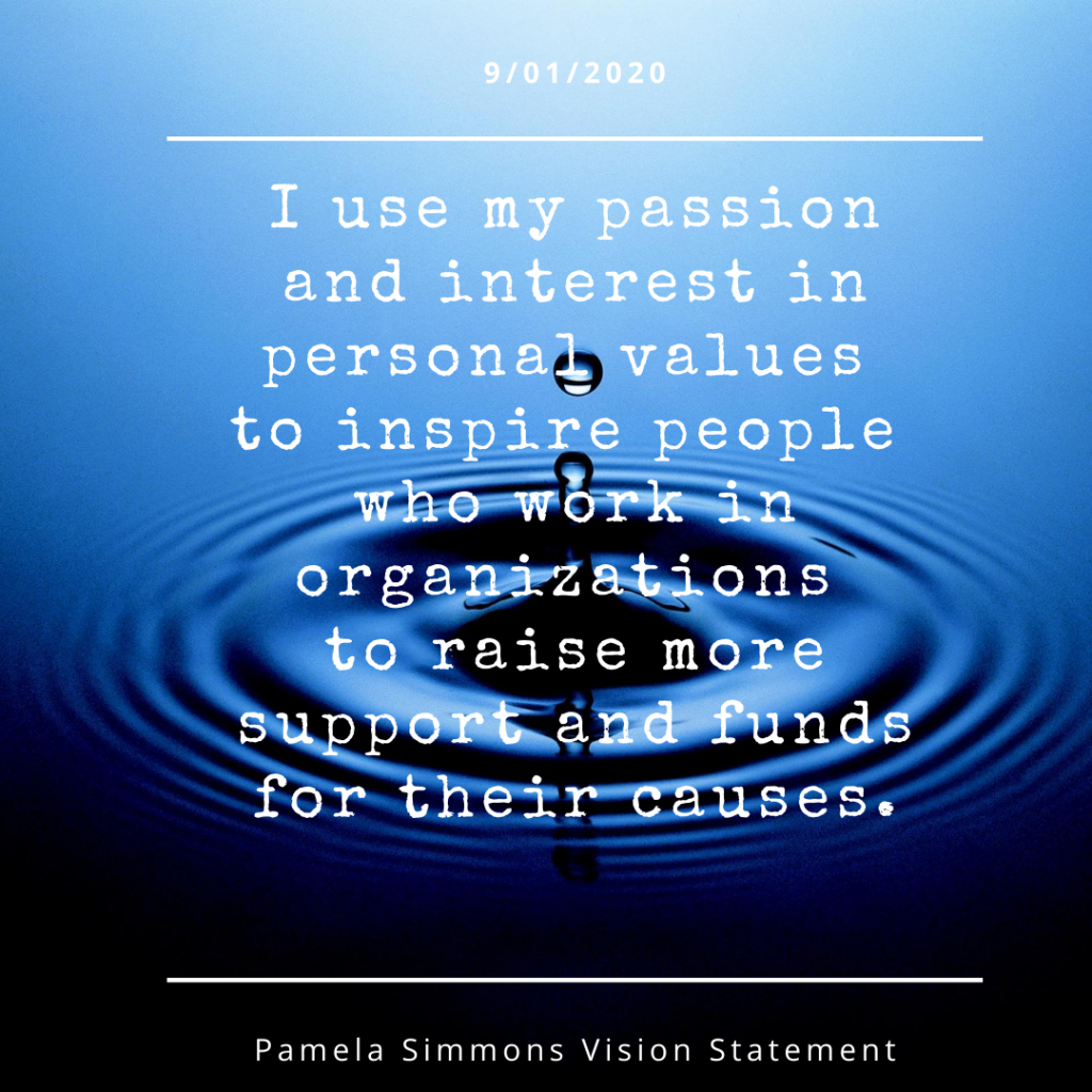 image of pamela simmons personal vision statement