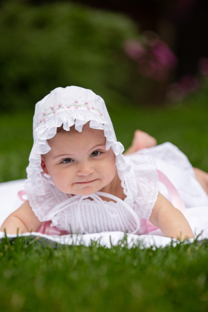 outdoor baby portrait