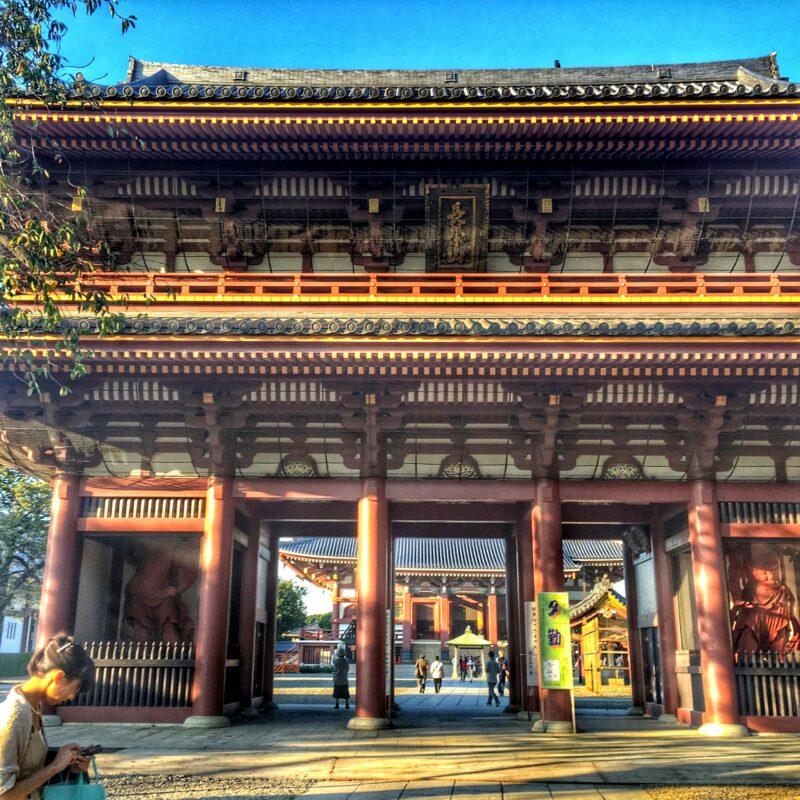 Фрагмент ворот Икэгами-Хонмондзи, храмовая архитектура буддизма