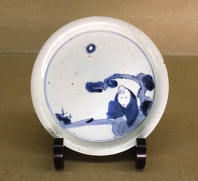 """Тарелка в стиле """"Индиго-Какиэмон"""" 藍柿右衛門"""