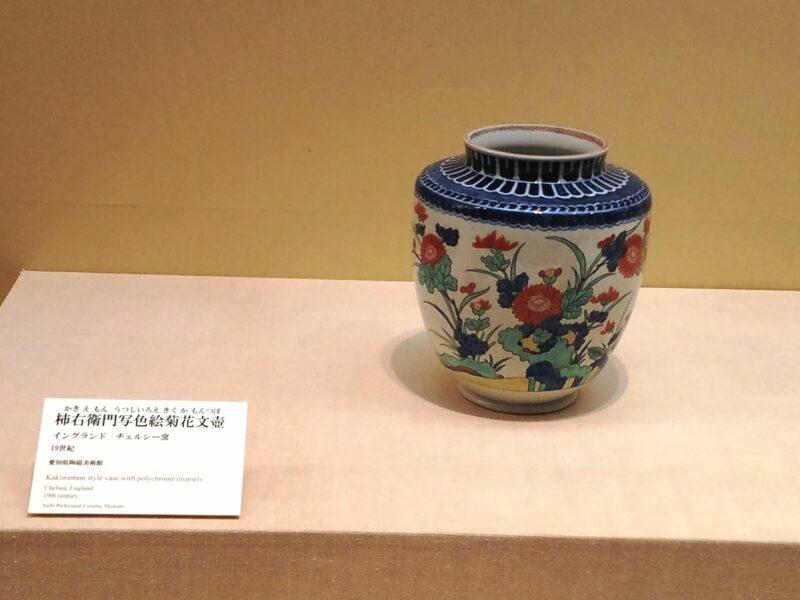 Копия стиля Какиэмон, изготовленная в 19 в. в Челси (Музей керамики Аити)