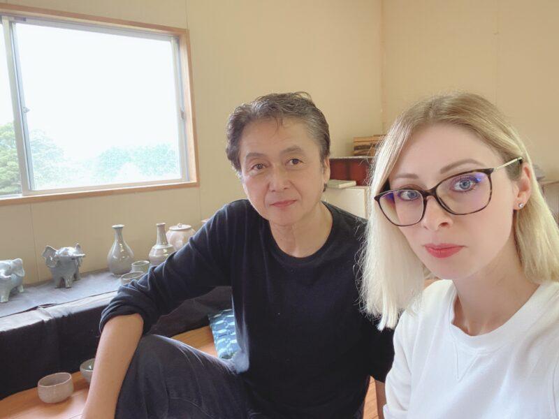 Керамист Акихико Ватанабэ и Татьяна Вада, лицензированный менеджер по туризму в Японии, руководитель компании VOYAGEJAPAN