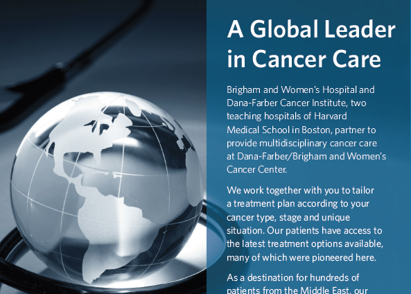 A Global Leader in Cancer Care