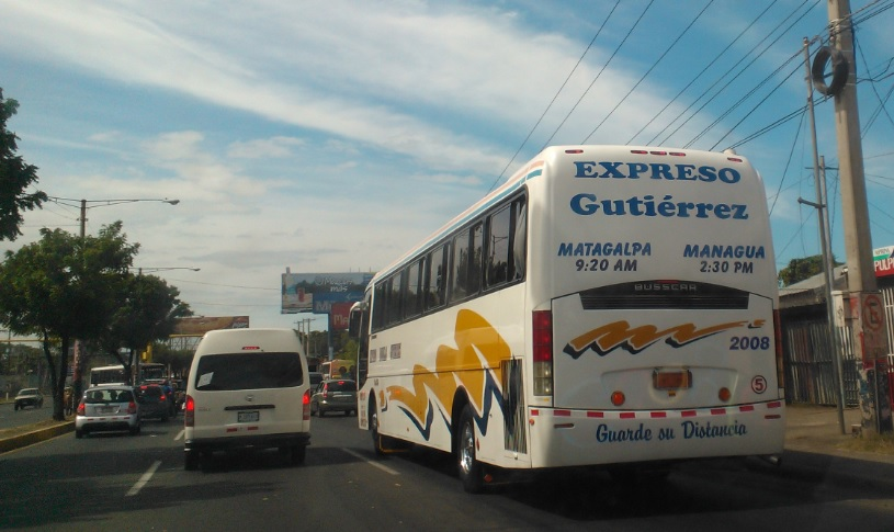 Tiempo de viaje terrestre en Nicaragua