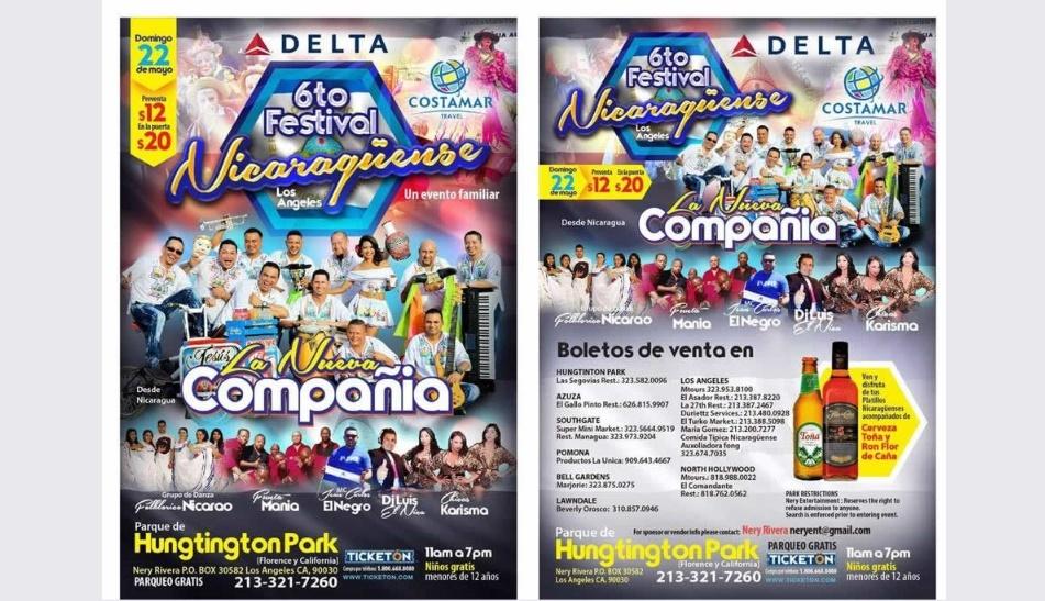 6to Festival Nicaragüense en Los Ángeles