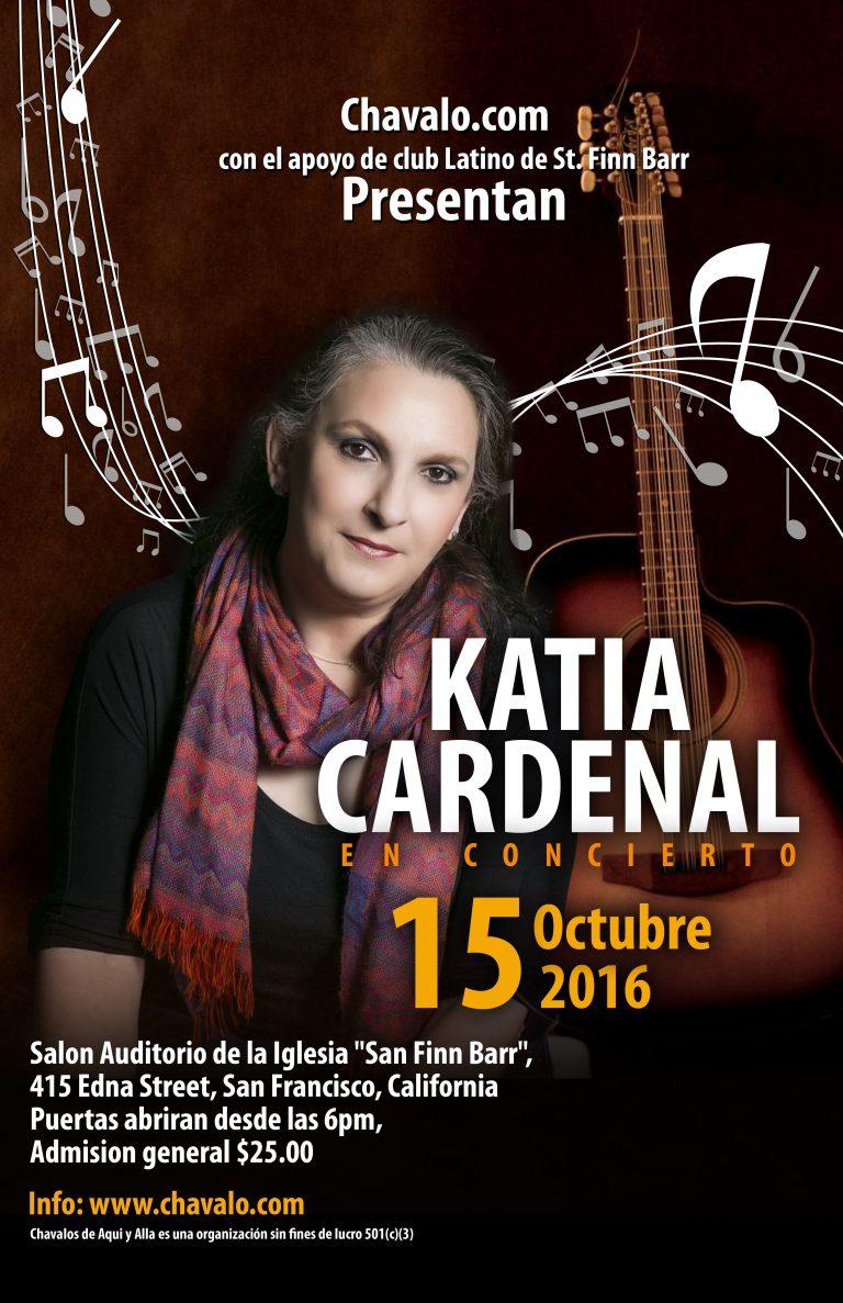 Chavalo.com presenta a Katia Cardenal en Concierto