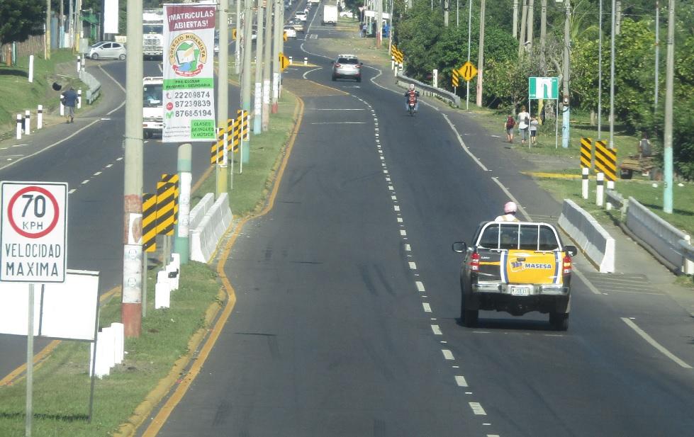 La nueva vía alterna de carretera Masaya km12 a Managua