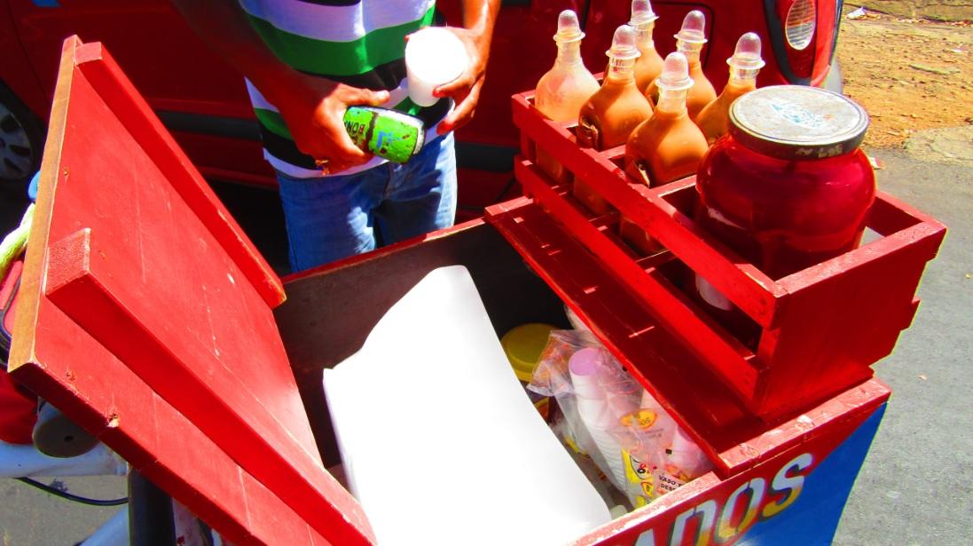 Tipos de raspados que se venden en Nicaragua