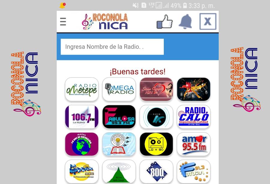 Roconola Nica apps de radios de Nicaragua