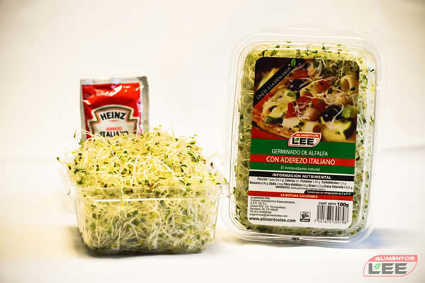 Germinado de alfalfa con aderezo italiano