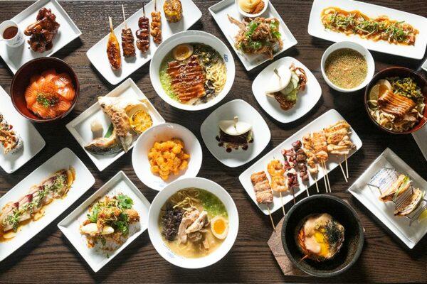 Momosan Seattle Table of Food