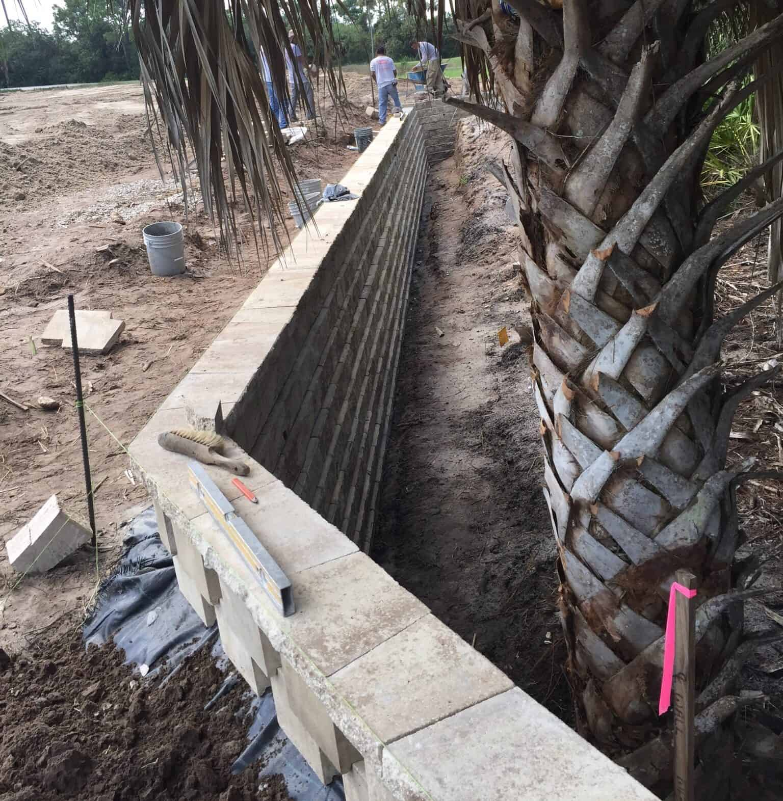 Picturesque Commercial Retaining Wall Installation