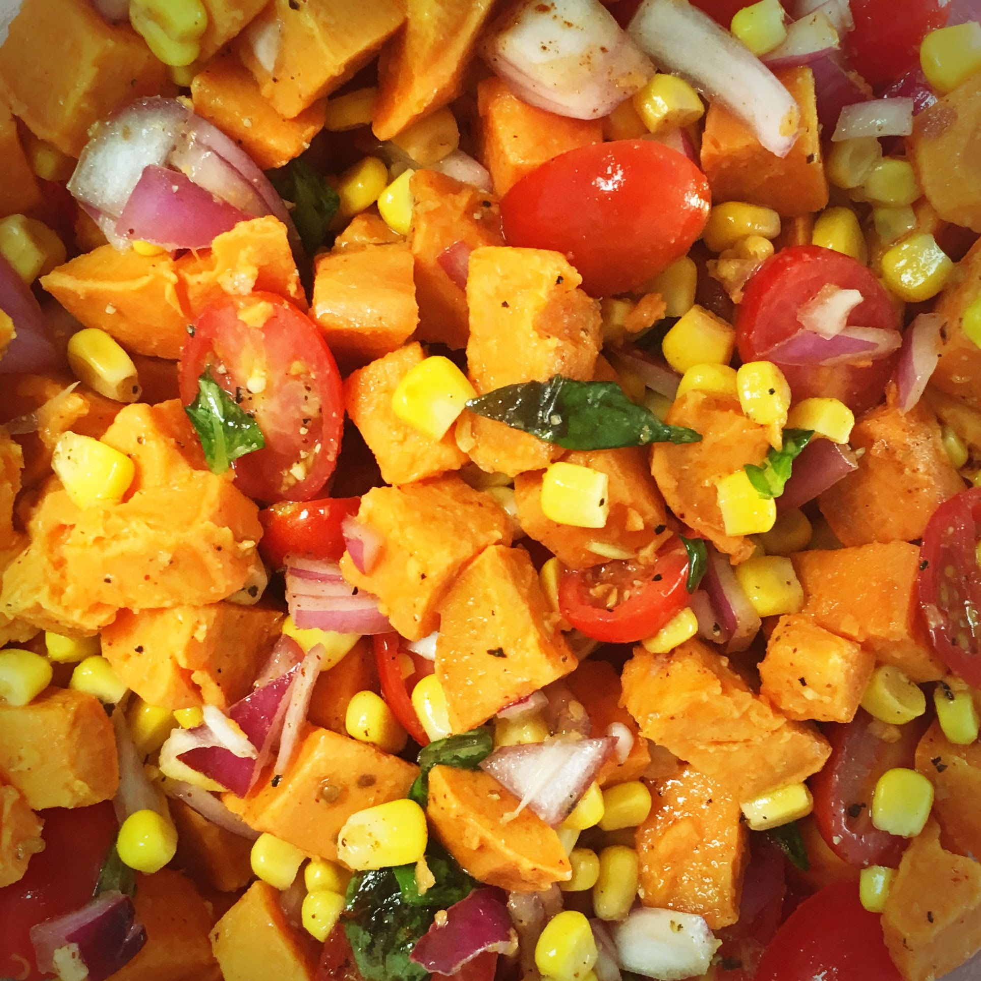sweet potato corn tomato salad