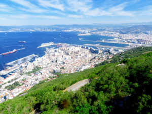 view from rock of gibraltar