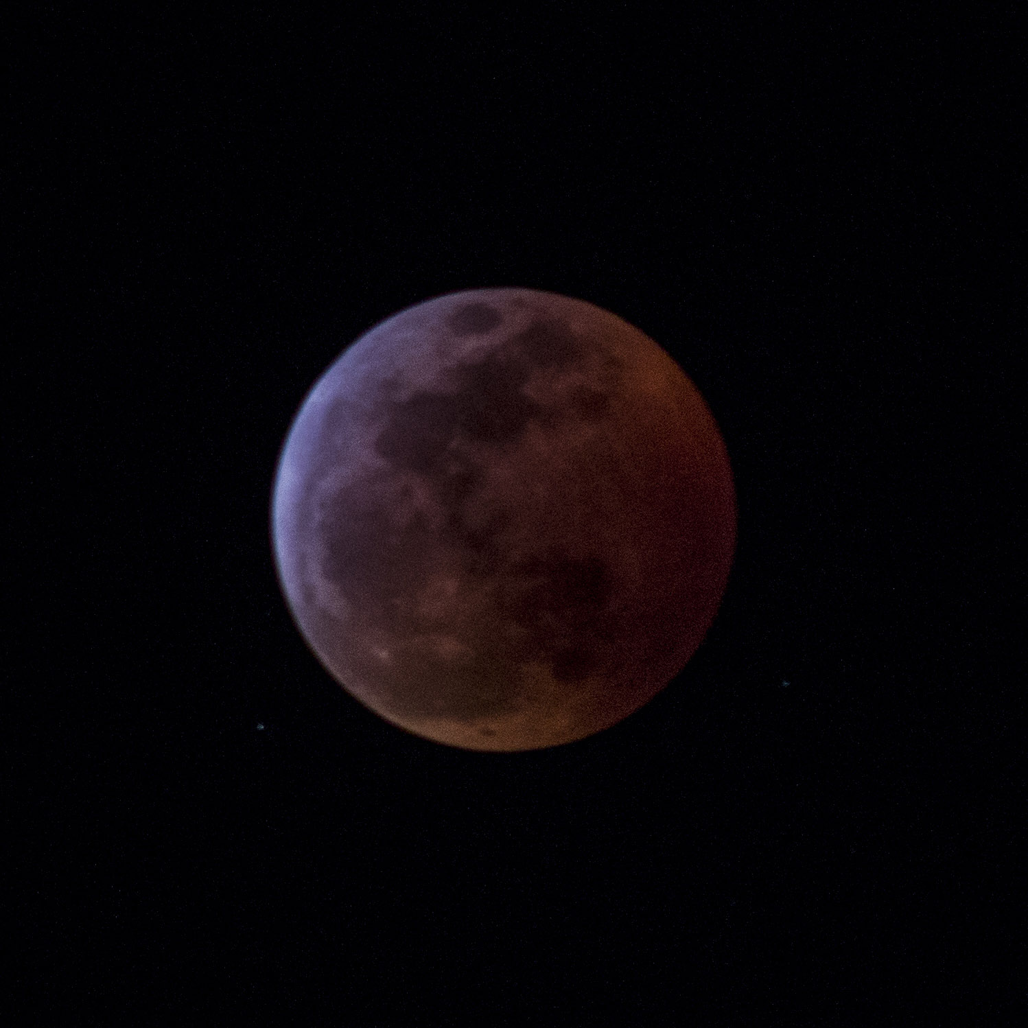 blood moon and the lunar eclipse